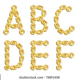 Golden chained alphabet