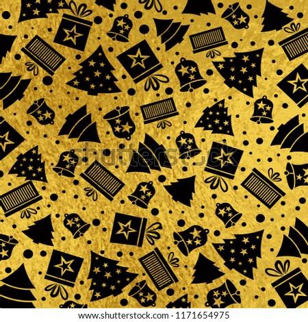 golden-christmas-background-black-bell-4