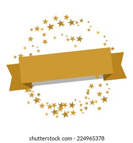 golden christmas banner with stars