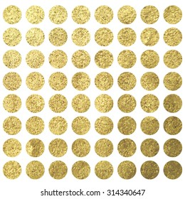 Golden circle dots square christmas wadding birthday design template
