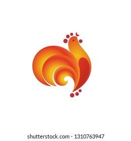 Golden Cockerel logo template design.