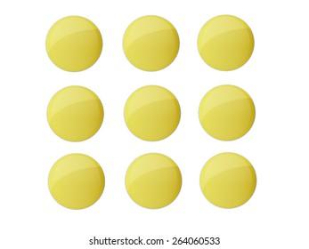 Golden coin button.