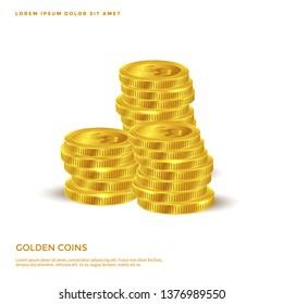 golden coin object, Money background design