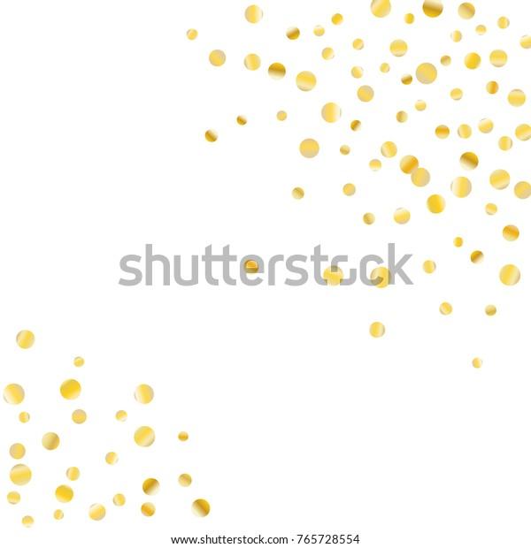 Image Vectorielle De Stock De Confetti Dore Sur Fond Blanc Arriere Plan 765728554