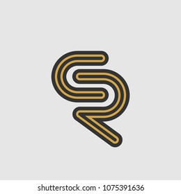 Golden CR letter logo