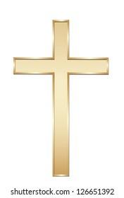 Golden cross. Vector