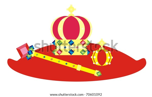 Golden Crown Jewels Exhibited On Red Stock Vector Royalty Free 70601092 450 x 437 jpeg 57 кб. https www shutterstock com image vector golden crown jewels exhibited on red 70601092