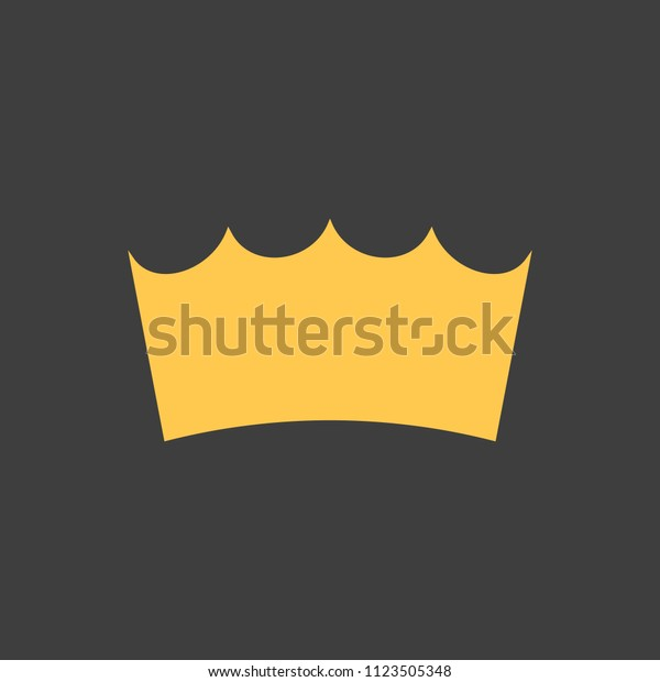 Golden Crown On Black Background Vector Stock Vector Royalty Free 1123505348 Here you can explore hq cartoon crown transparent illustrations, icons and clipart with filter setting like size, type, color etc. shutterstock