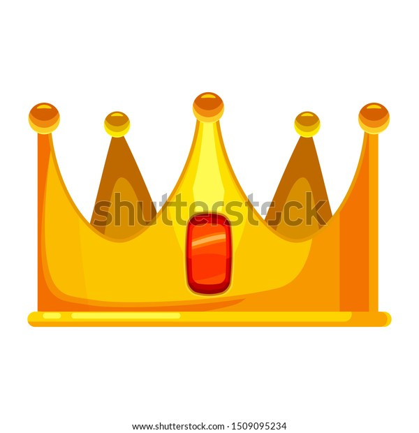 Golden Crown Royal Jewelry Symbol King Stock Vector Royalty Free 1509095234 Royal smile face button isolated. shutterstock