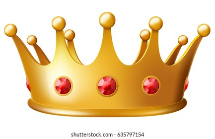 Golden crown. Vector illustration.
