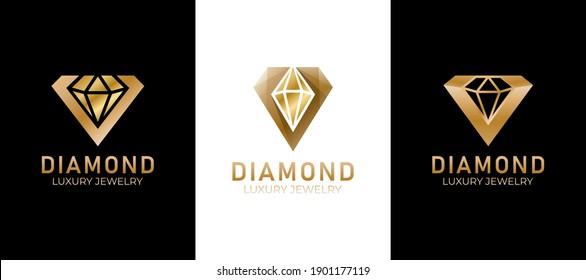 golden diamond luxury jewelry logo collection