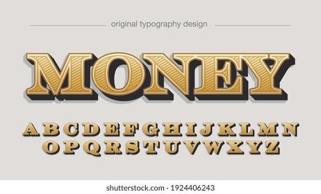 Golden Dollar Serif Luxury Decorative Artistic Font Typography