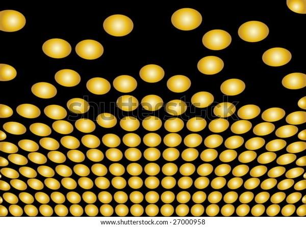 Golden dots on black background