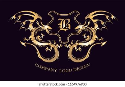 Golden Dragon logo graphic design