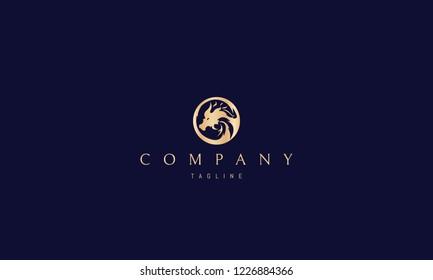 Golden Dragon vector logo image