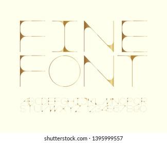 Golden Elegance Font Design Set - Regular