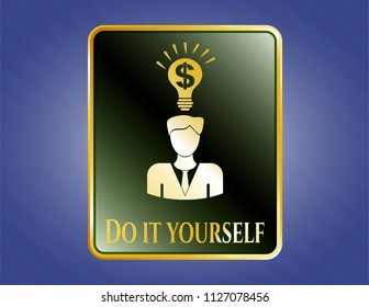 Do it yourself icon images stock photos vectors shutterstock golden emblem or badge with business idea icon and do it yourself text inside solutioingenieria Image collections