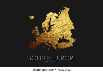 Golden Europe Logo on the black background