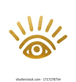 Golden Eye Symbol - Vector Silhouette
