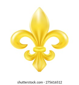 Golden fleur-de-lis decorative design