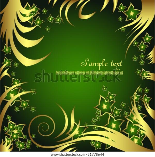 Golden Flower Background Wallpaper Stock Vector (Royalty Free) 31778644