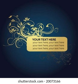 golden flower and text frame