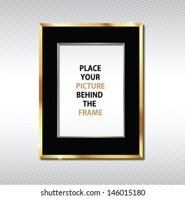 Golden frame (for placing your picture behind)