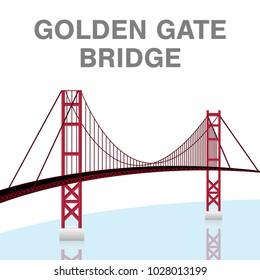 golden gate bridge san francisco california vector