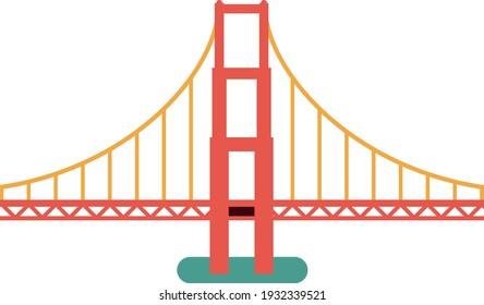 Golden Gate Bridge. Vector illustration.