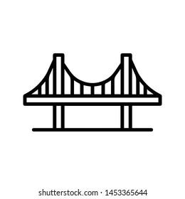 Golden gate USA bridge icon