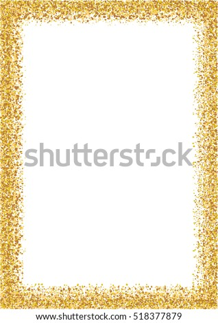 Golden Glitter Frame A 4 Format Size Stock Vector (Royalty Free ...