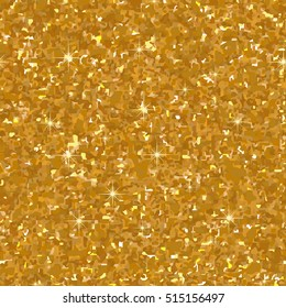 Golden Glitter Texture. Seamless pattern. Glowing New Year or Christmas background. Silver Dust. Creative concept for web, light confetti, bright sequins, sparkle tinsel, abstract bling, shimmer dust.