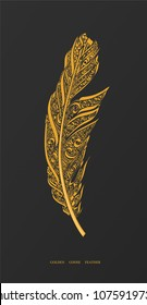 Golden Goose Feather