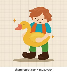 Golden Goose with little boy theme element