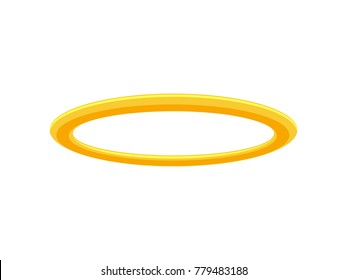 Golden Halo Angel Ring. Isolated Vector Illustration.