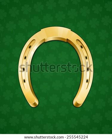 Golden Horseshoe Good Luck Symbol Vector Stock Vector Royalty Free