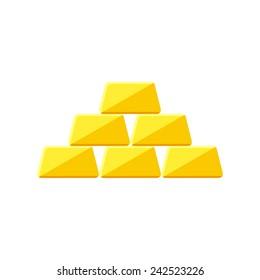 Golden icon icon(flat design)
