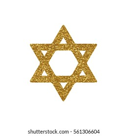 Golden image of the star of David