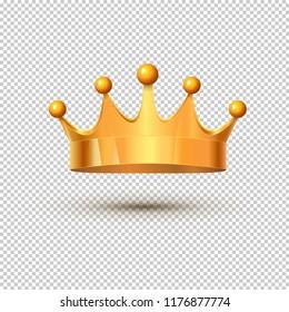 Golden king crown royal luxury isolated medieval monarch treasure. Metal crown.