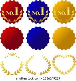 Golden laurel decoration set, No.1