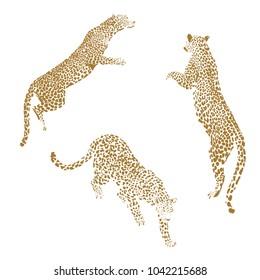 Golden Leopard Vector Illustration
