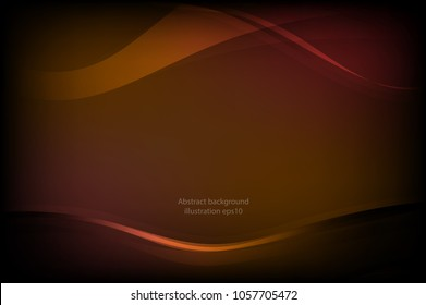 Golden light abstract background, illustration vector eps10