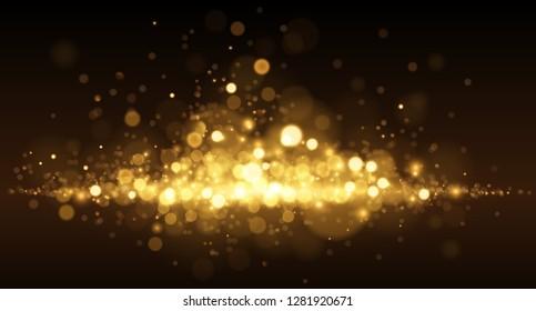 Golden light dust background