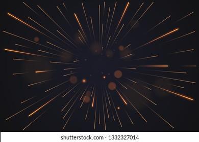 golden light sparks background