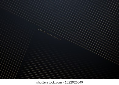 Golden lines abstract background