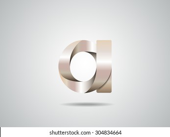 Golden logo design, letter a