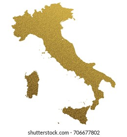 golden map of Italy