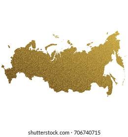 golden map of Russia
