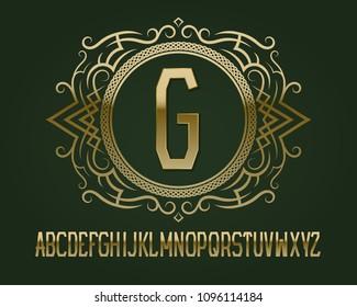 monogram design elements calligraphic graceful template stock vector
