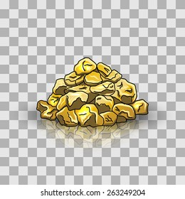 Golden nuggets pile